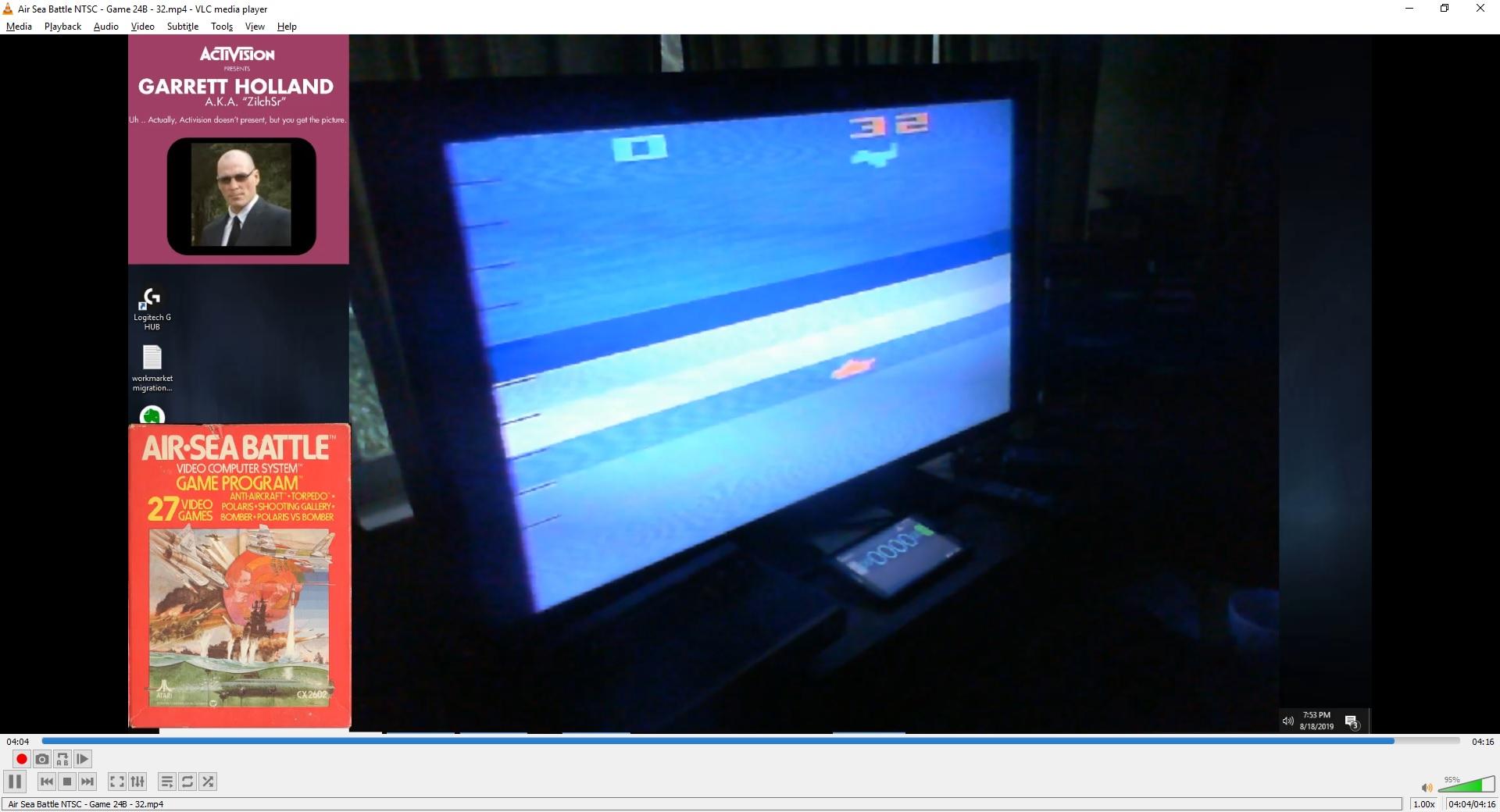 ZilchSr: Air-Sea Battle: Game 24 (Atari 2600 Novice/B) 32 points on 2019-10-10 20:55:19