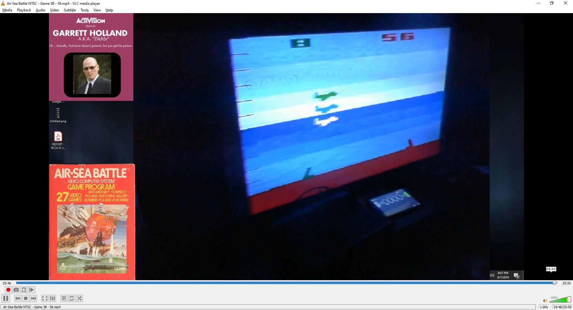 ZilchSr: Air-Sea Battle: Game 3 (Atari 2600 Novice/B) 56 points on 2019-10-08 23:22:18