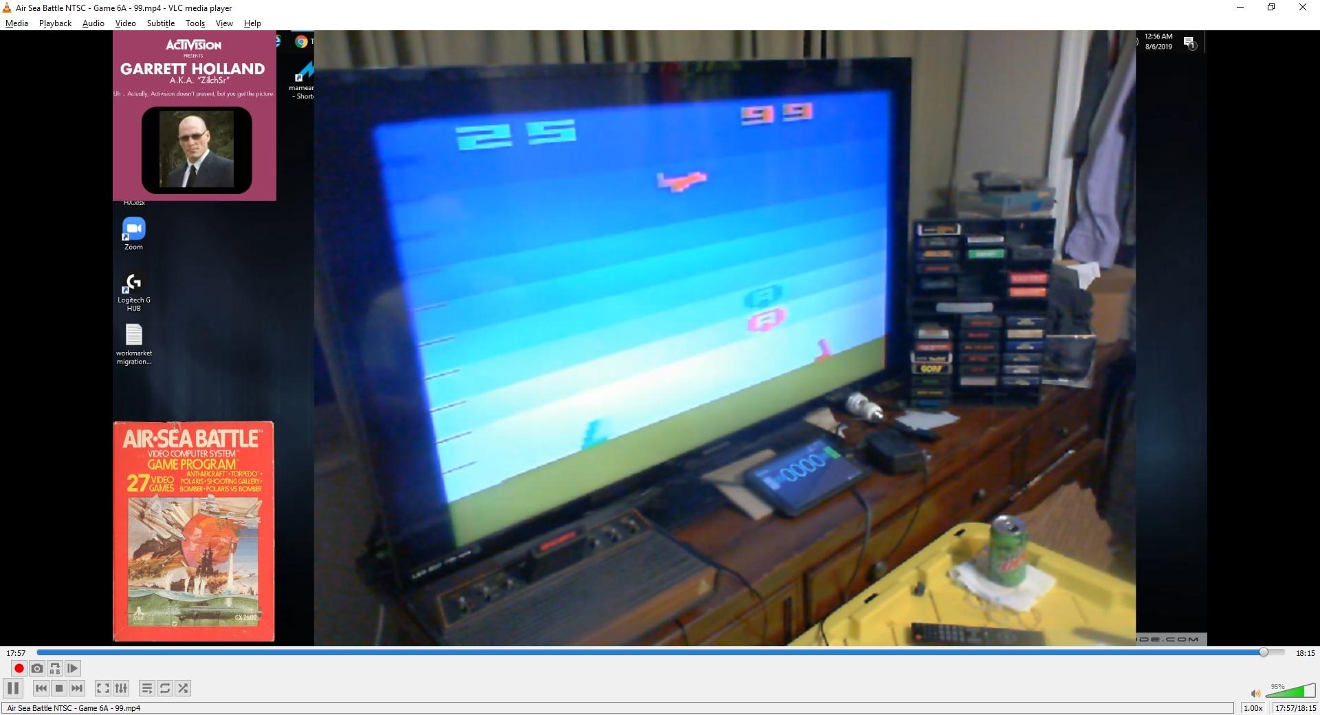 ZilchSr: Air-Sea Battle: Game 6 (Atari 2600 Expert/A) 99 points on 2019-10-10 19:00:00