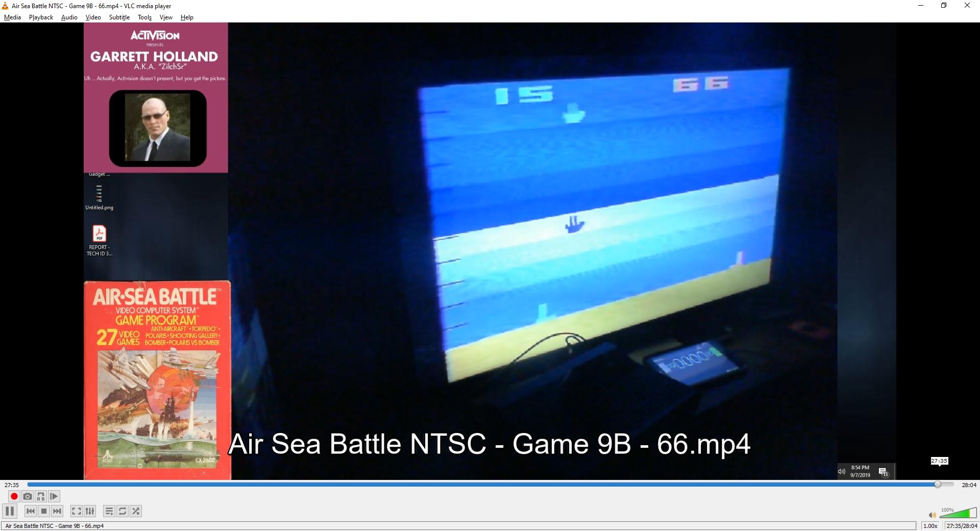 ZilchSr: Air-Sea Battle: Game 9 (Atari 2600 Novice/B) 66 points on 2019-10-10 19:16:43