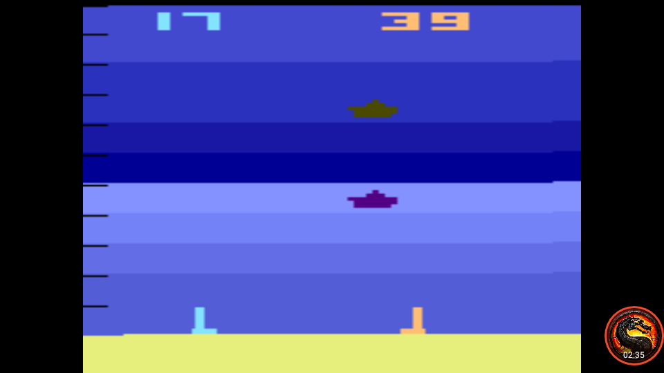omargeddon: Air-Sea Battle: Game 9 (Atari 2600 Emulated Expert/A Mode) 39 points on 2020-06-21 11:08:28