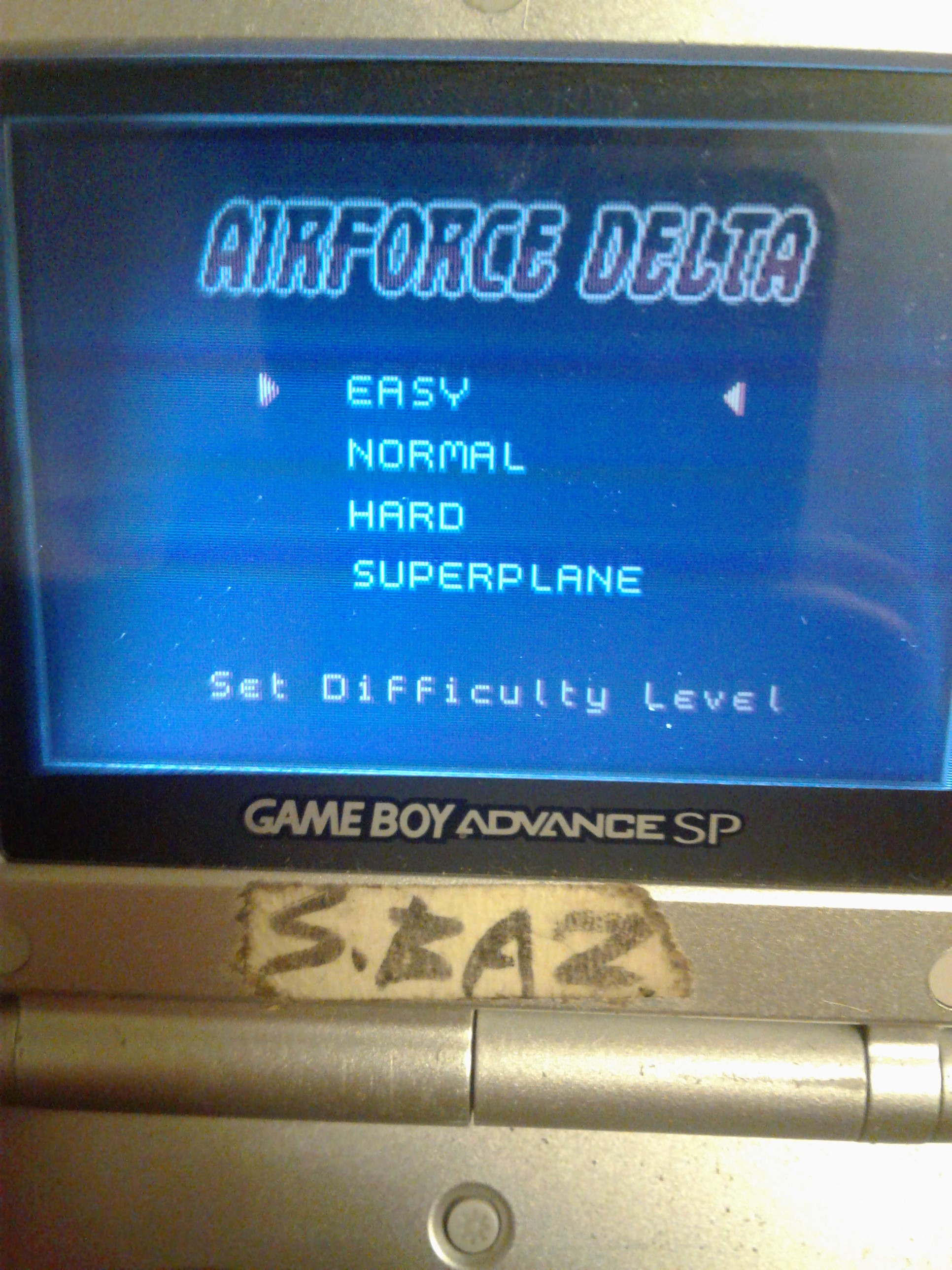 S.BAZ: AirForce Delta [Easy] (Game Boy Color) 2,700 points on 2019-08-01 23:48:39