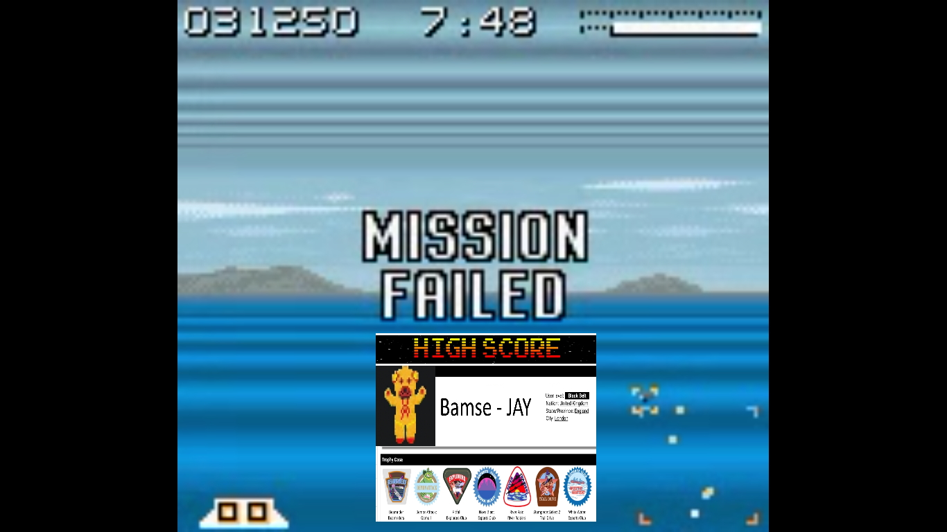 Bamse: AirForce Delta [Easy] (Game Boy Color Emulated) 31,250 points on 2019-10-22 16:39:40