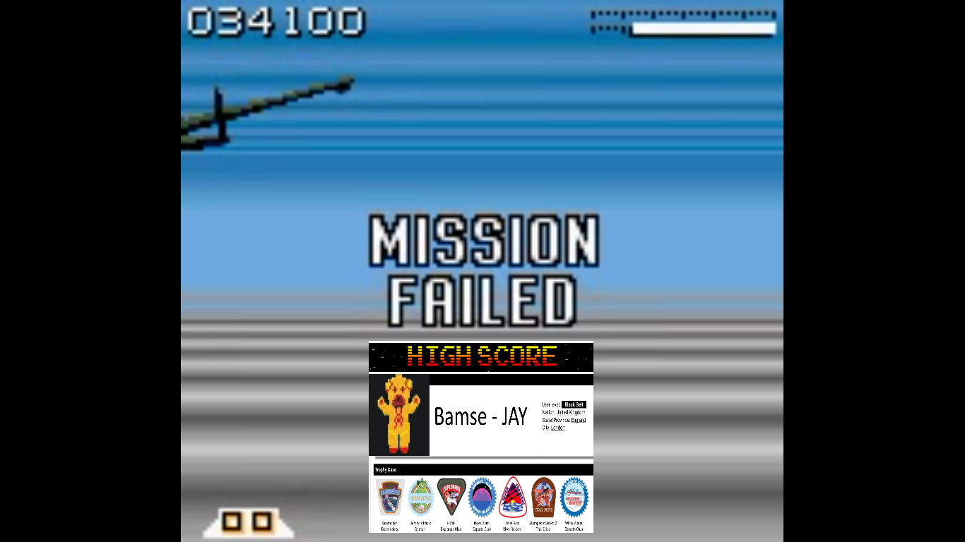 Bamse: AirForce Delta [Normal] (Game Boy Color Emulated) 34,100 points on 2019-10-22 16:41:00