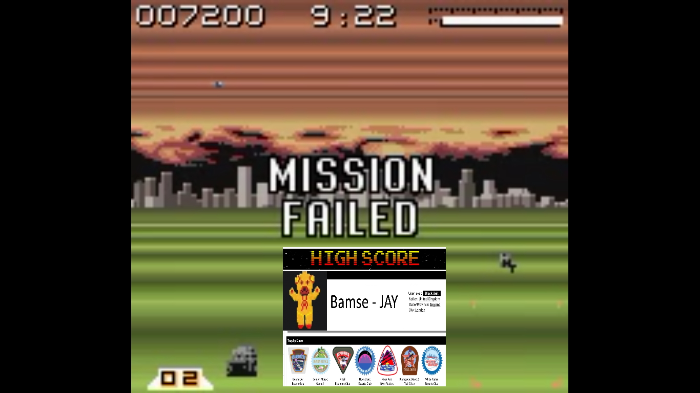 Bamse: AirForce Delta [Superplane] (Game Boy Color Emulated) 7,200 points on 2019-10-22 16:43:14