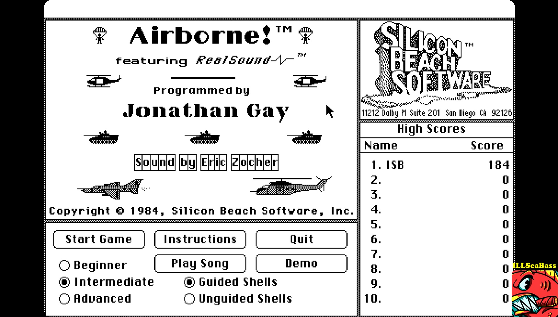 ILLSeaBass: Airborne! [Intermediate] (Mac OS Emulated) 184 points on 2017-05-20 13:05:03