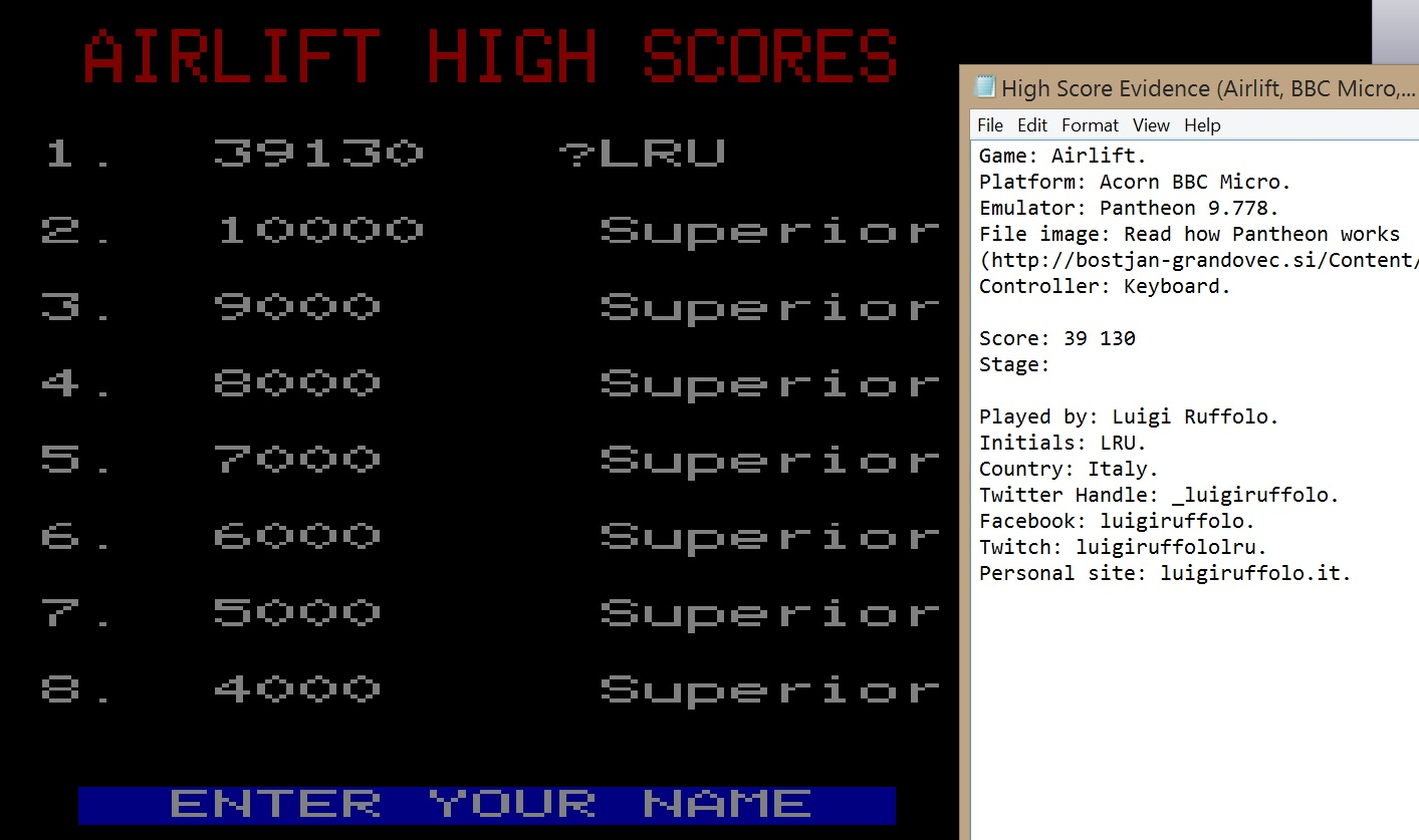 LuigiRuffolo: Airlift (BBC Micro Emulated) 39,130 points on 2020-08-04 06:44:41