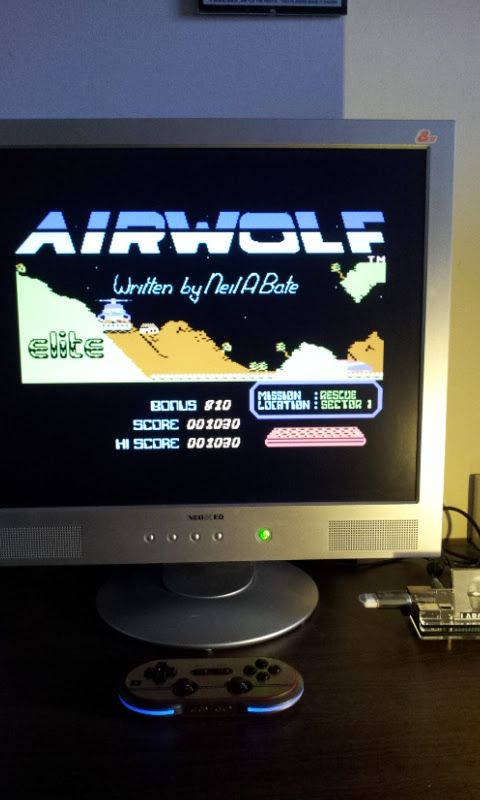 Larquey: Airwolf (Commodore 64 Emulated) 1,030 points on 2017-03-12 06:58:21