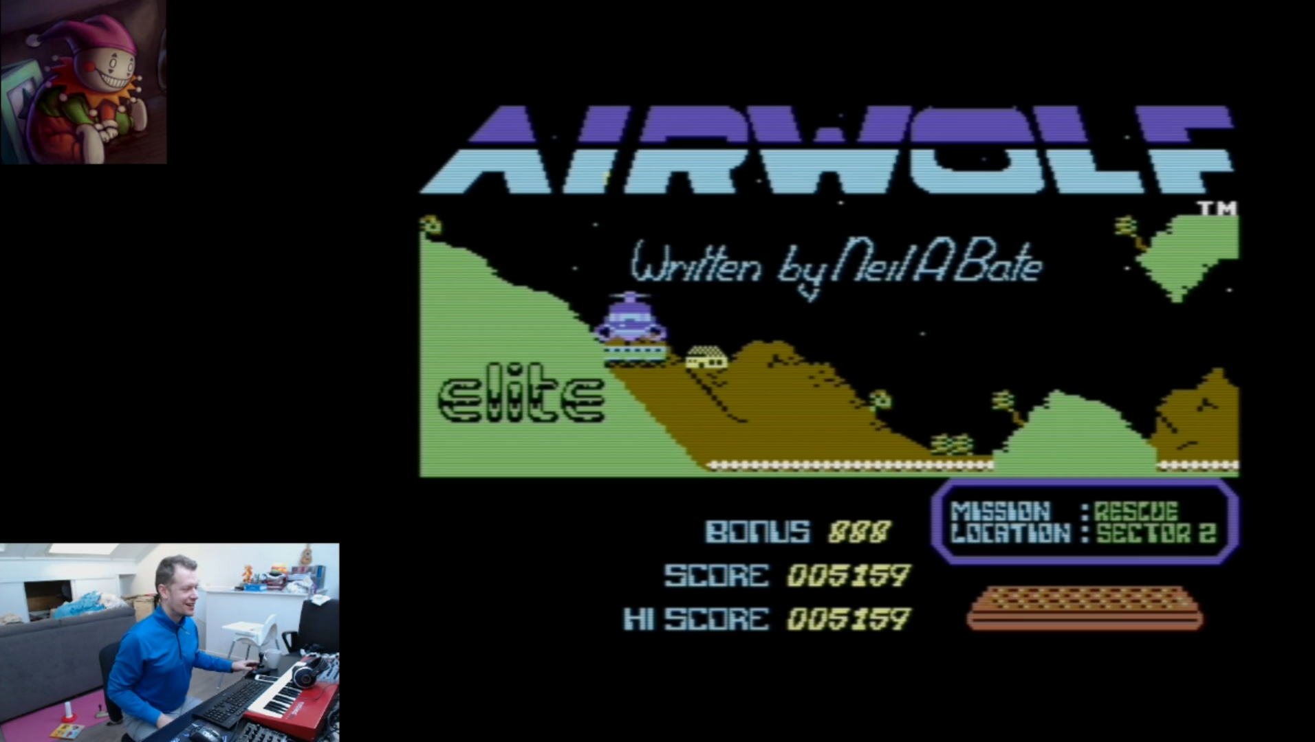 LittleJester: Airwolf (Commodore 64 Emulated) 5,159 points on 2018-02-10 14:45:14