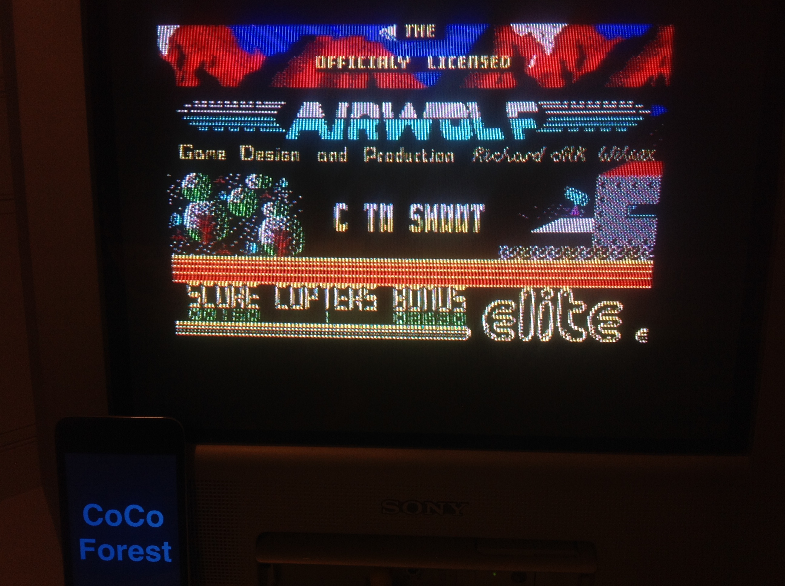 CoCoForest: Airwolf (ZX Spectrum) 150 points on 2016-01-20 13:46:48