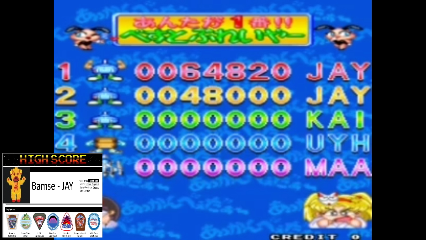 Bamse: Akkanvader (Arcade Emulated / M.A.M.E.) 48,000 points on 2019-11-11 16:20:50