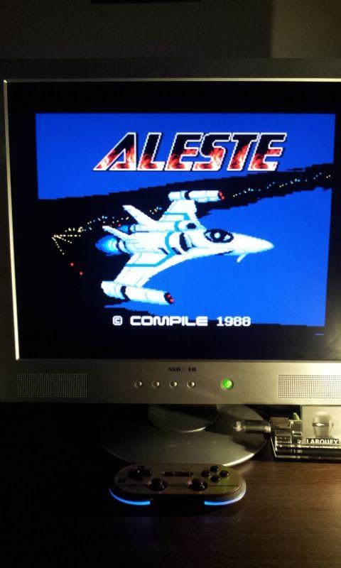 Larquey: Aleste (MSX Emulated) 30,460 points on 2017-02-26 12:16:29