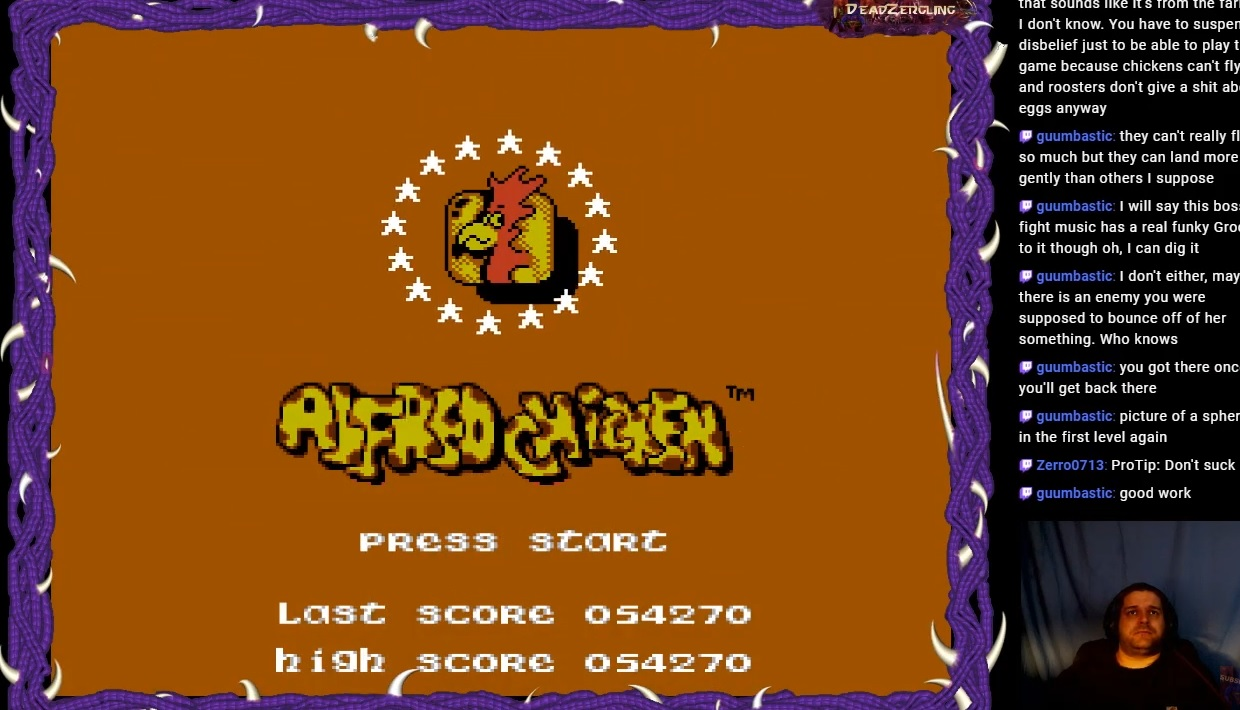 DeadZergling: Alfred Chicken (NES/Famicom Emulated) 54,270 points on 2020-03-23 04:31:32