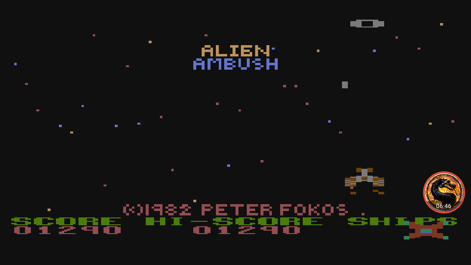 omargeddon: Alien Ambush (Atari 400/800/XL/XE Emulated) 1,290 points on 2019-02-15 09:52:56