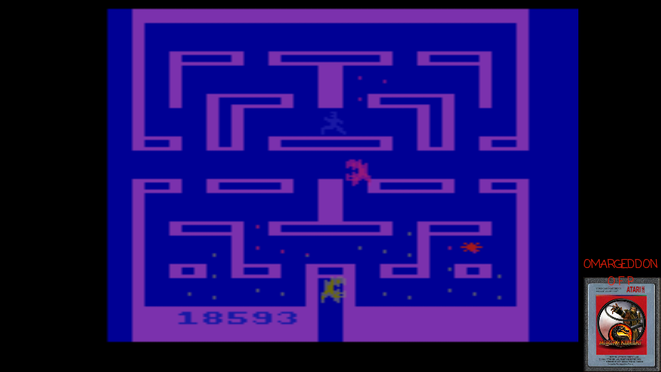 omargeddon: Alien (Atari 2600 Emulated Novice/B Mode) 18,593 points on 2017-03-20 01:02:45