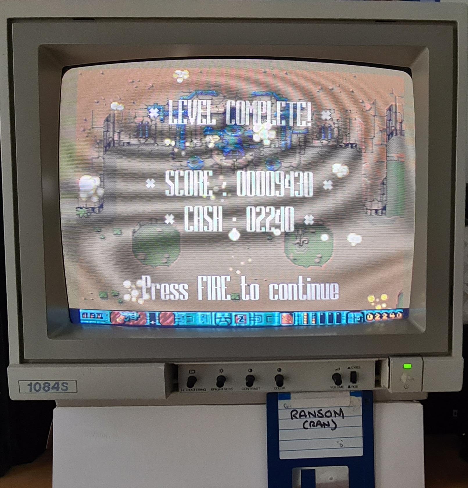 ransom: Alien Bash II (Amiga) 11,110 points on 2020-10-03 04:23:29