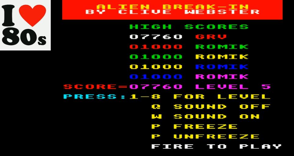 Giorvam: Alien Break-In (BBC Micro Emulated) 7,760 points on 2018-01-30 12:55:53