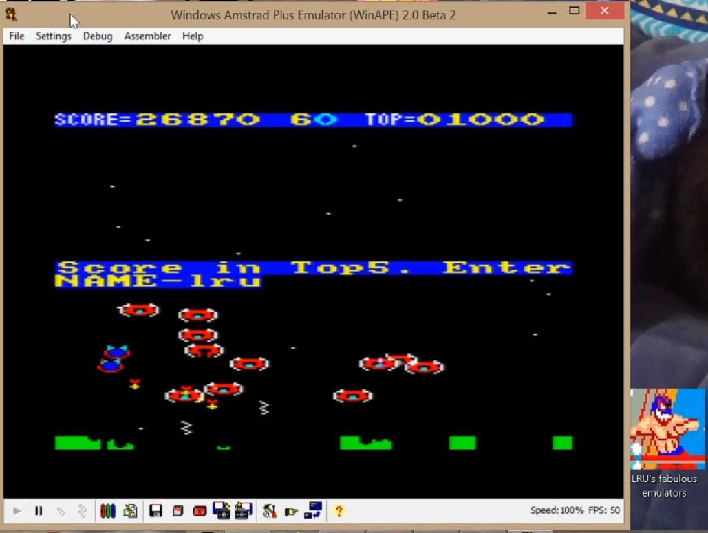 LuigiRuffolo: Alien Break-In [Level 5] (Amstrad CPC Emulated) 26,870 points on 2020-07-09 17:45:06