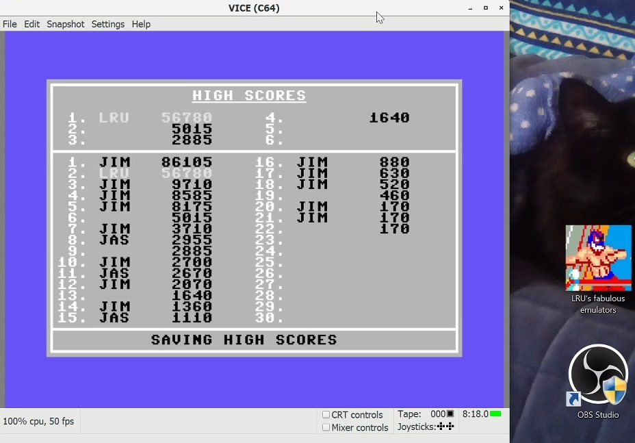 LuigiRuffolo: Alien Brood [Level 5] (Commodore 64 Emulated) 56,780 points on 2021-01-24 10:07:36