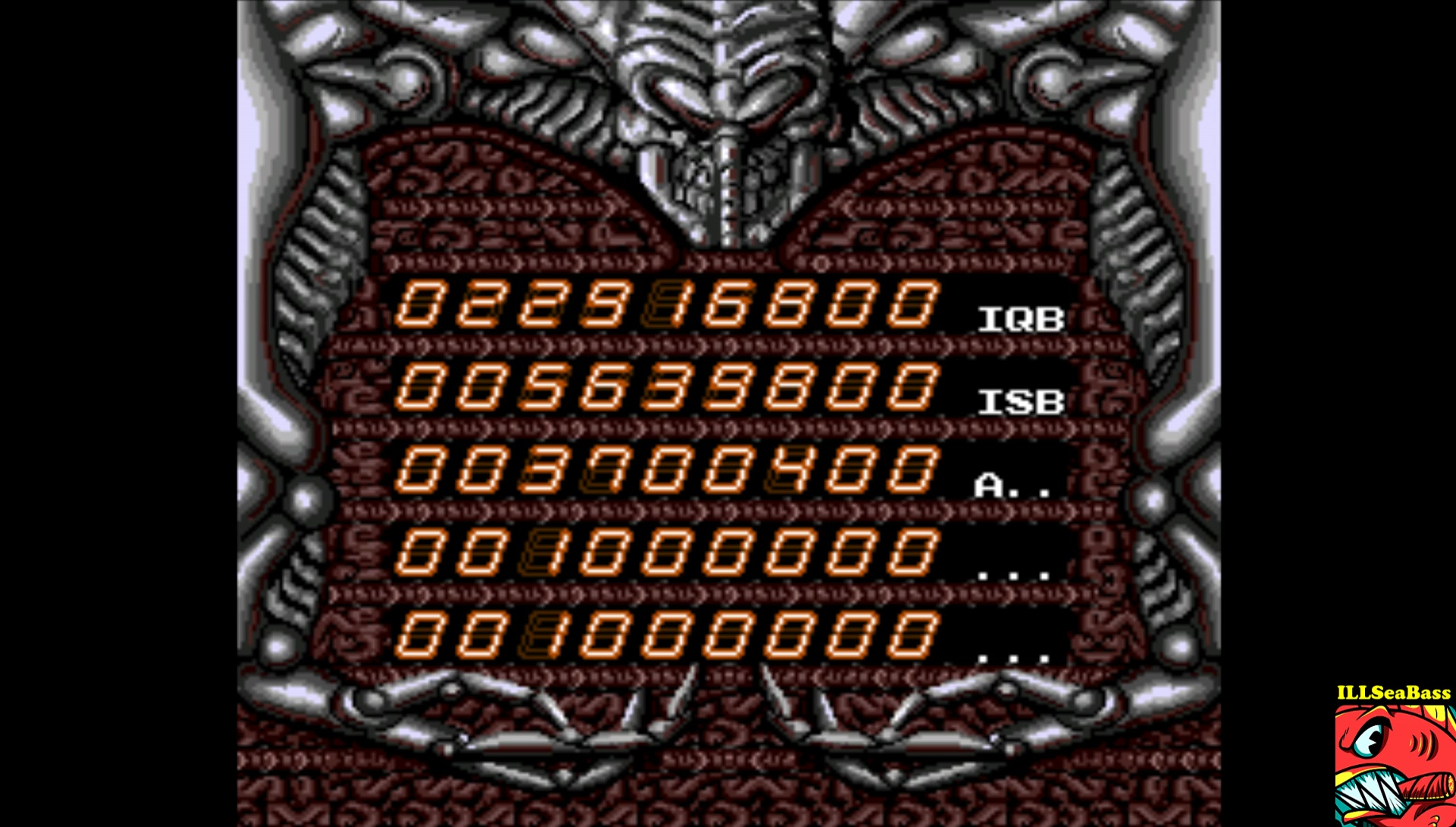 ILLSeaBass: Alien Crush (TurboGrafx-16/PC Engine Emulated) 22,916,800 points on 2017-02-03 22:12:19