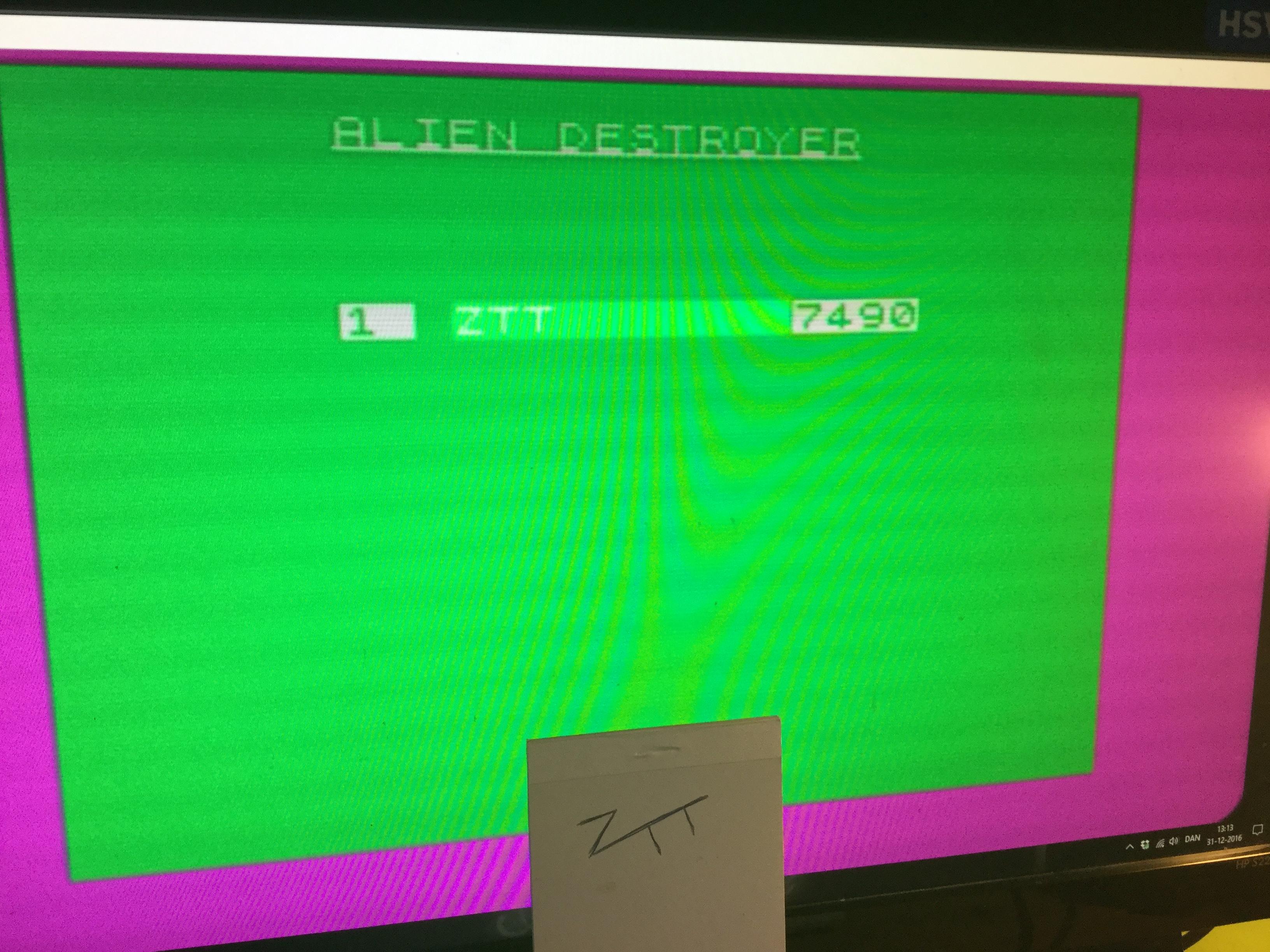 Frankie: Alien Destroyer (ZX Spectrum Emulated) 7,490 points on 2016-12-31 06:19:16