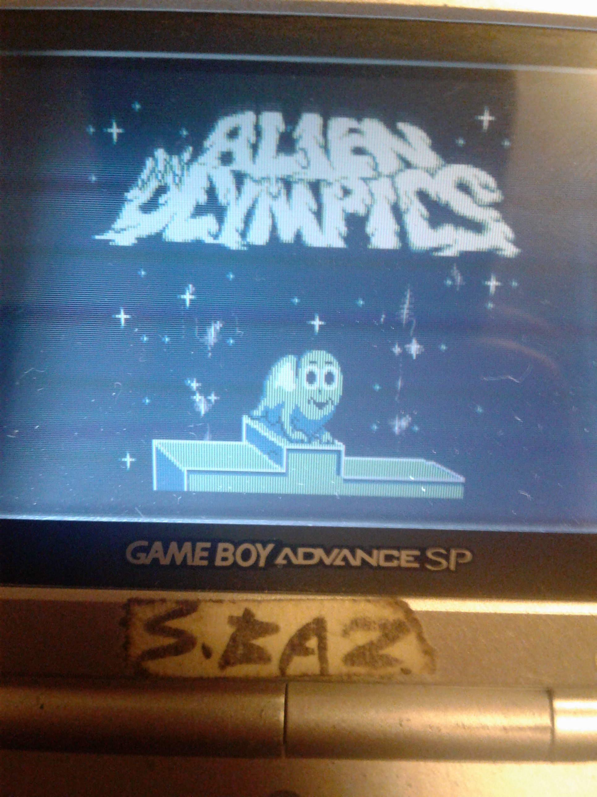 S.BAZ: Alien Olympics (Game Boy Emulated) 346 points on 2019-11-20 04:13:35