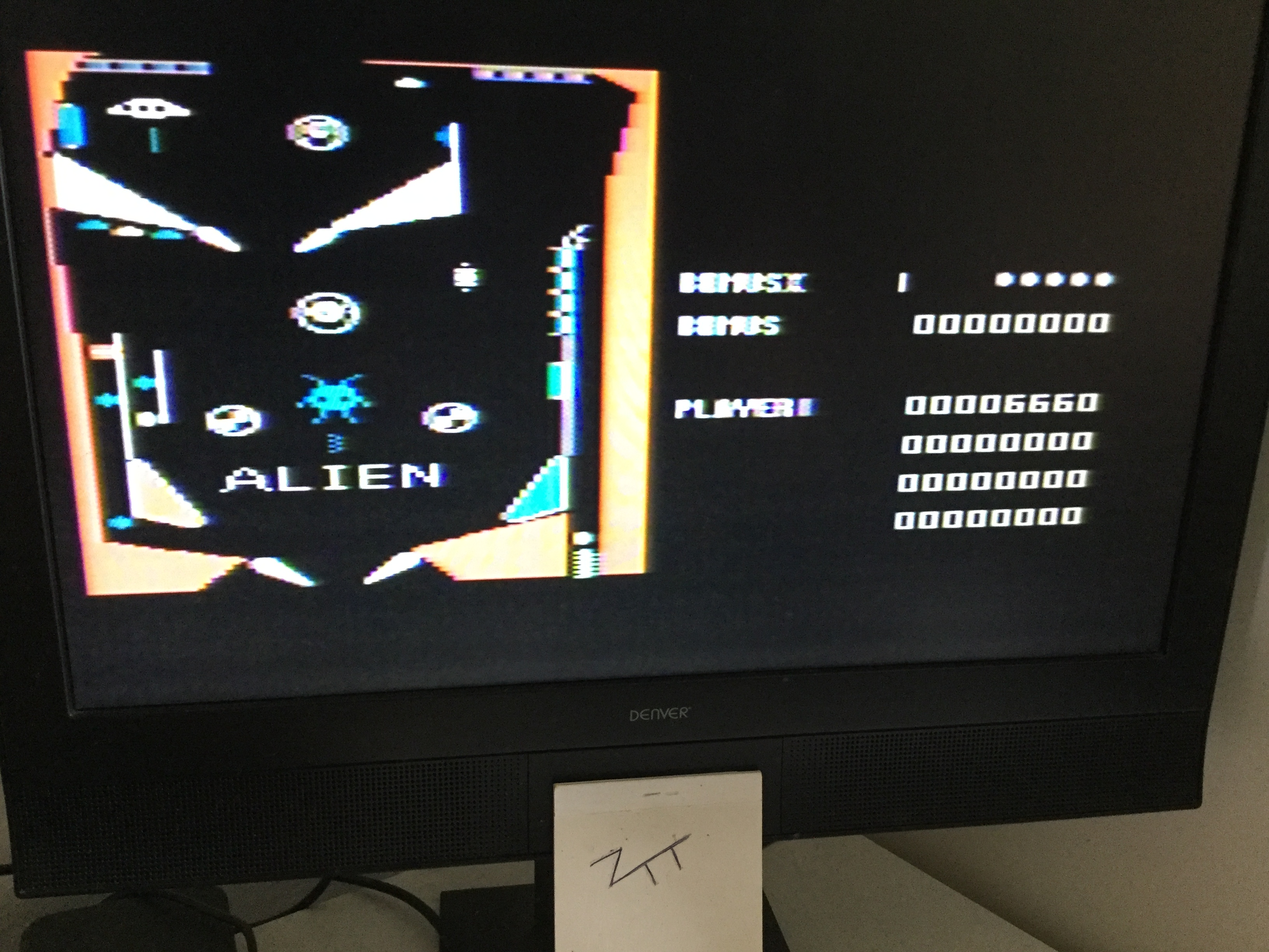 Frankie: Alien [Pinball Game] (Atari 400/800/XL/XE) 6,660 points on 2019-07-07 07:44:41