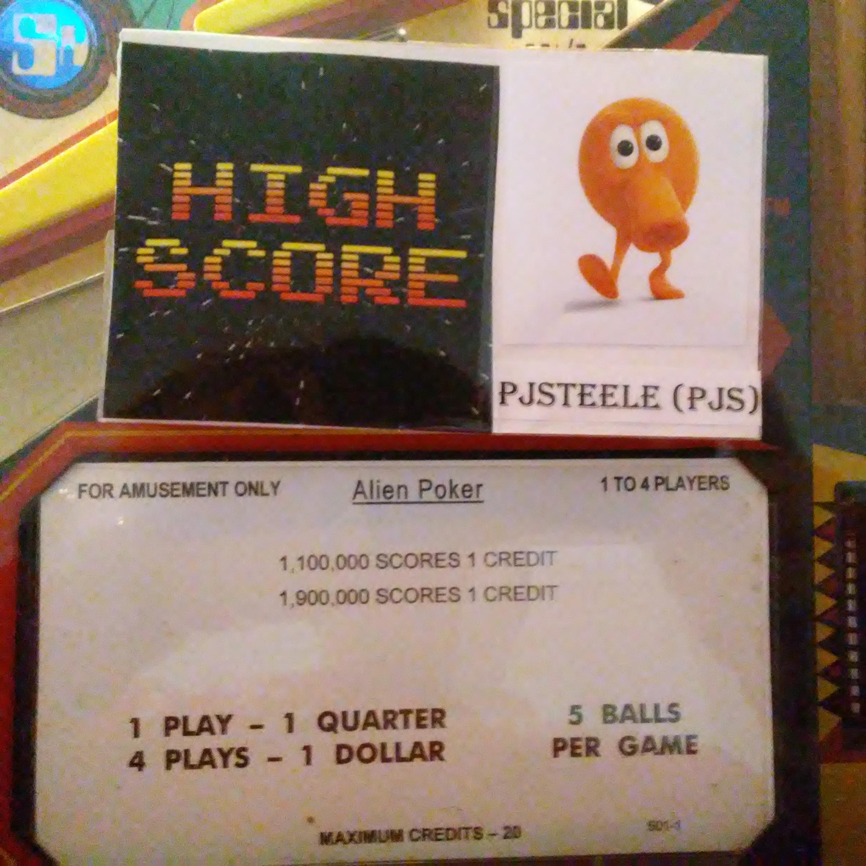Pjsteele: Alien Poker (Pinball: 5 Balls) 1,442,570 points on 2018-01-01 10:46:58