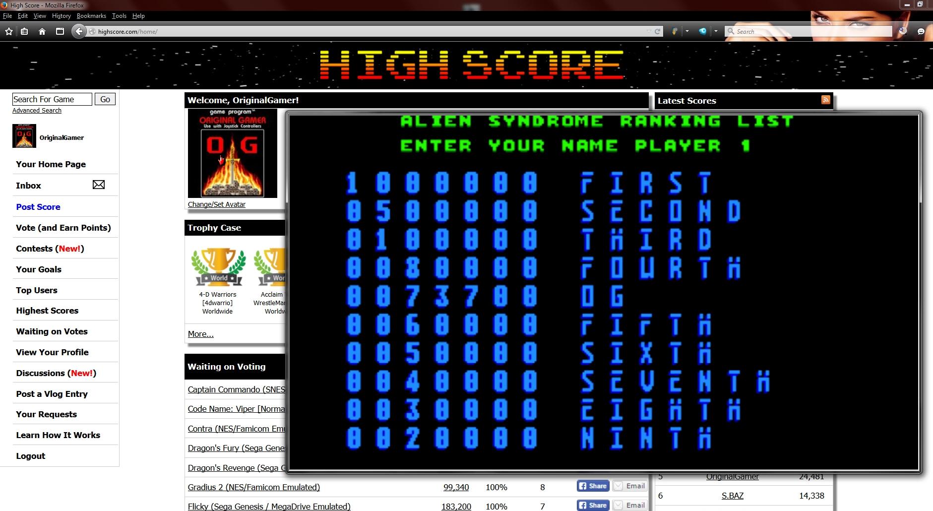 OriginalGamer: Alien Syndrome (Amiga Emulated) 73,700 points on 2015-09-11 21:44:50