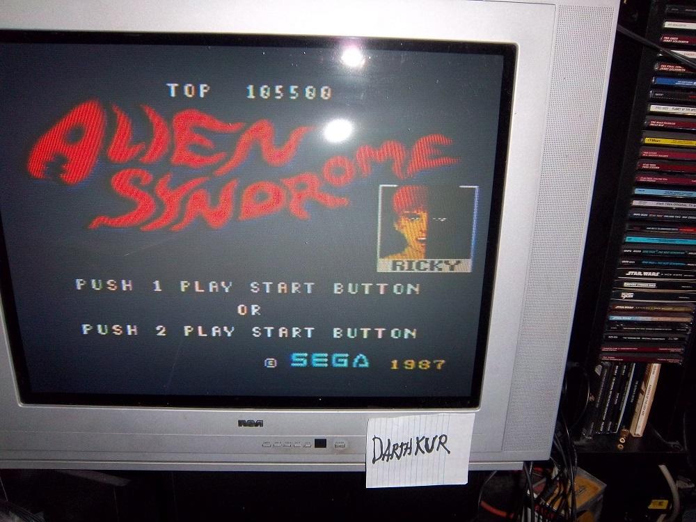 darthkur: Alien Syndrome (Sega Master System) 105,500 points on 2016-03-20 16:01:40