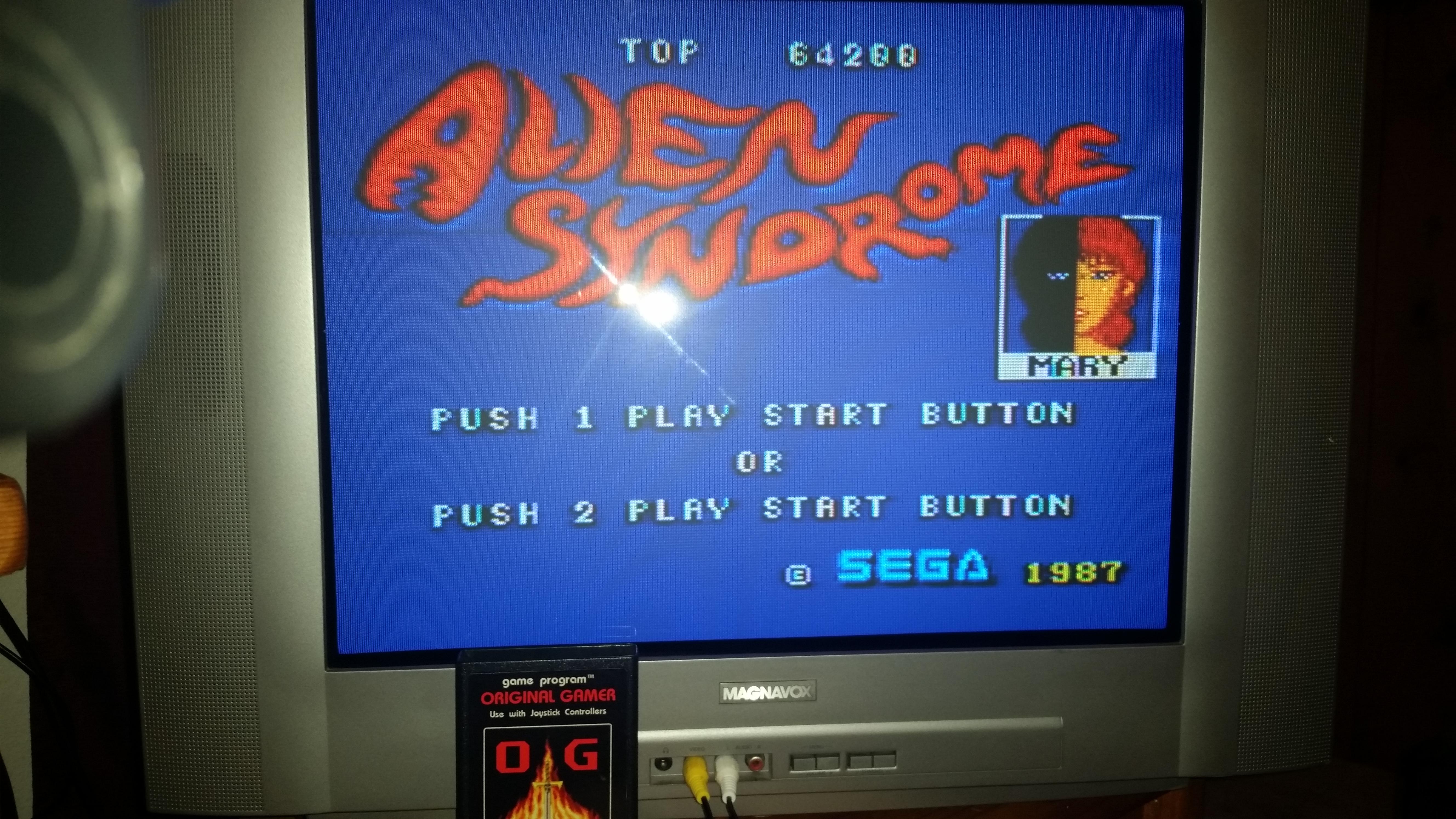 OriginalGamer: Alien Syndrome (Sega Master System) 64,200 points on 2016-04-30 14:58:42