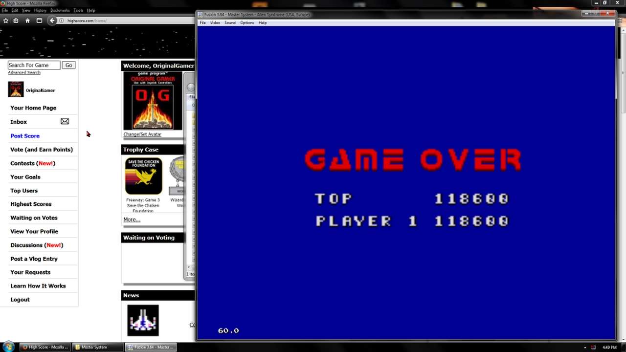 OriginalGamer: Alien Syndrome (Sega Master System Emulated) 118,600 points on 2018-02-19 18:03:02