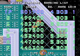 Pessimeister: Alien Syndrome [aliensyn] (Arcade Emulated / M.A.M.E.) 501,900 points on 2019-09-27 12:39:45