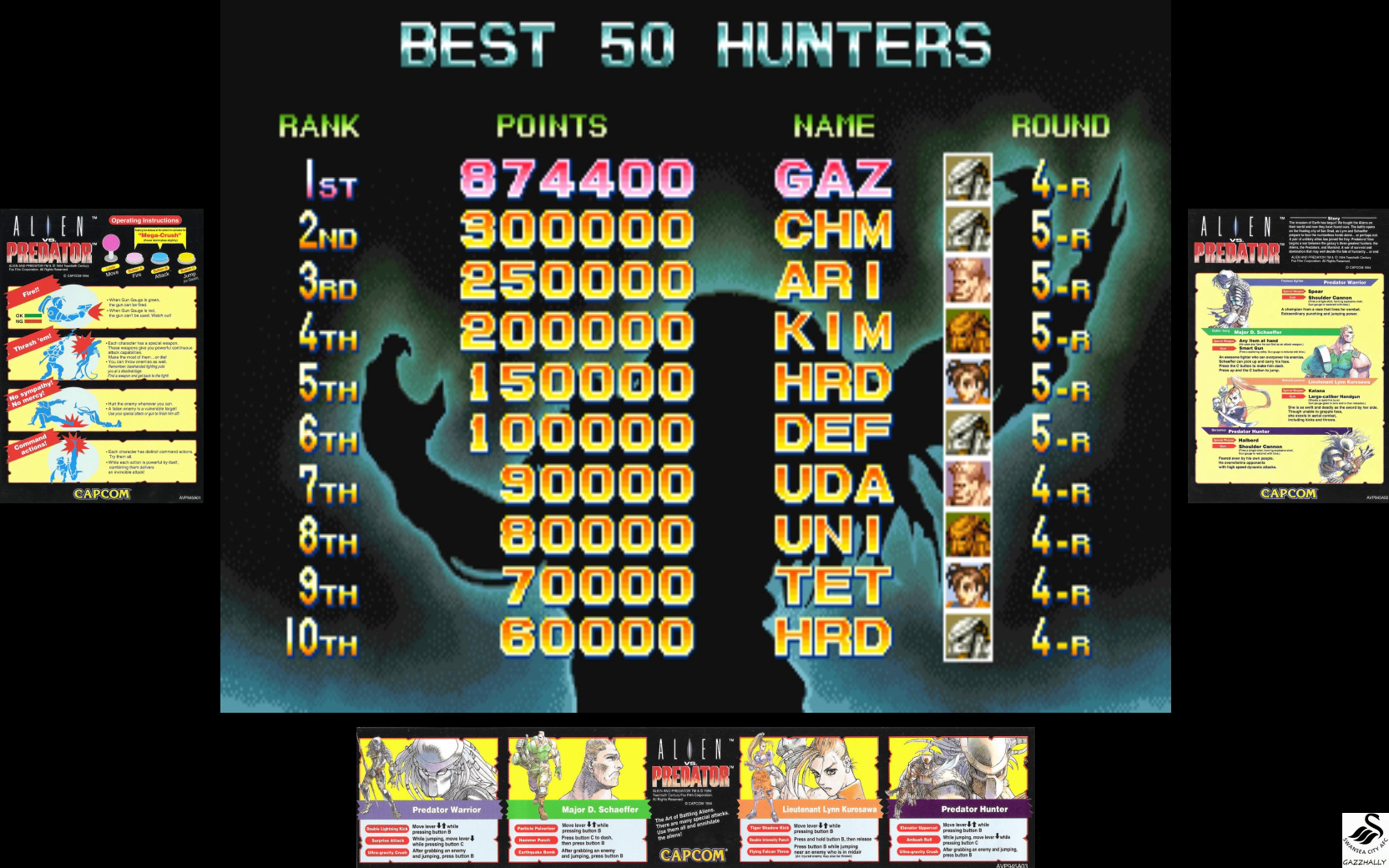 gazzhally: Alien Vs. Predator [avsp] (Arcade Emulated / M.A.M.E.) 874,400 points on 2017-07-03 06:03:28
