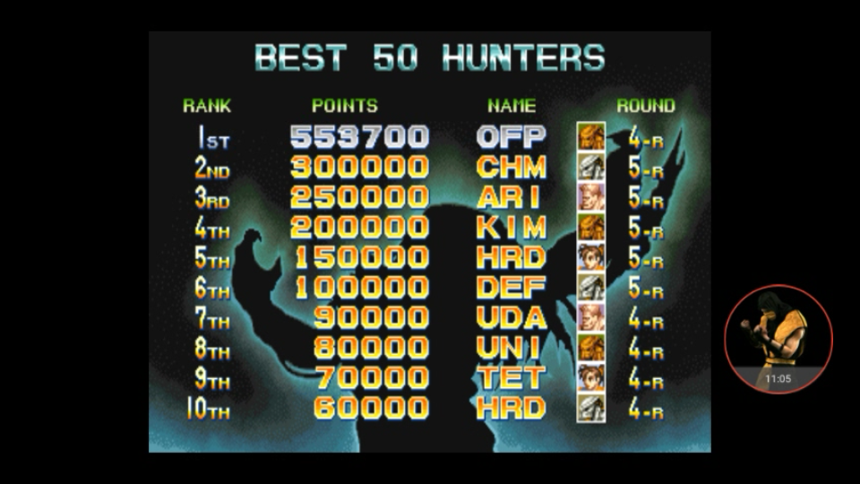 omargeddon: Alien Vs. Predator [avsp] (Arcade Emulated / M.A.M.E.) 553,700 points on 2017-12-31 14:59:02