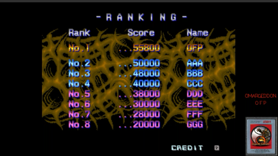 omargeddon: Aliens [aliens] (Arcade Emulated / M.A.M.E.) 55,800 points on 2017-03-09 00:38:06