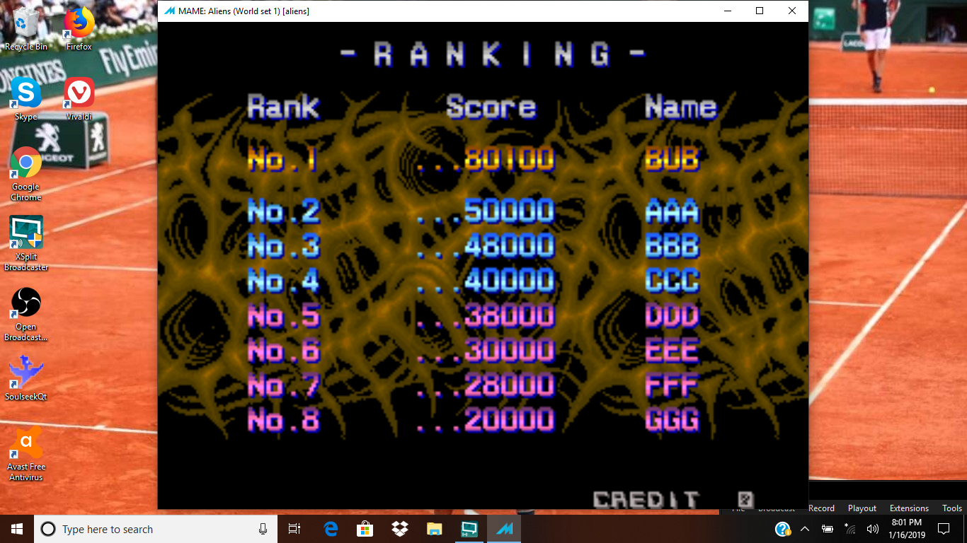bubufubu: Aliens [aliens] (Arcade Emulated / M.A.M.E.) 1,080,100 points on 2019-01-19 20:56:38