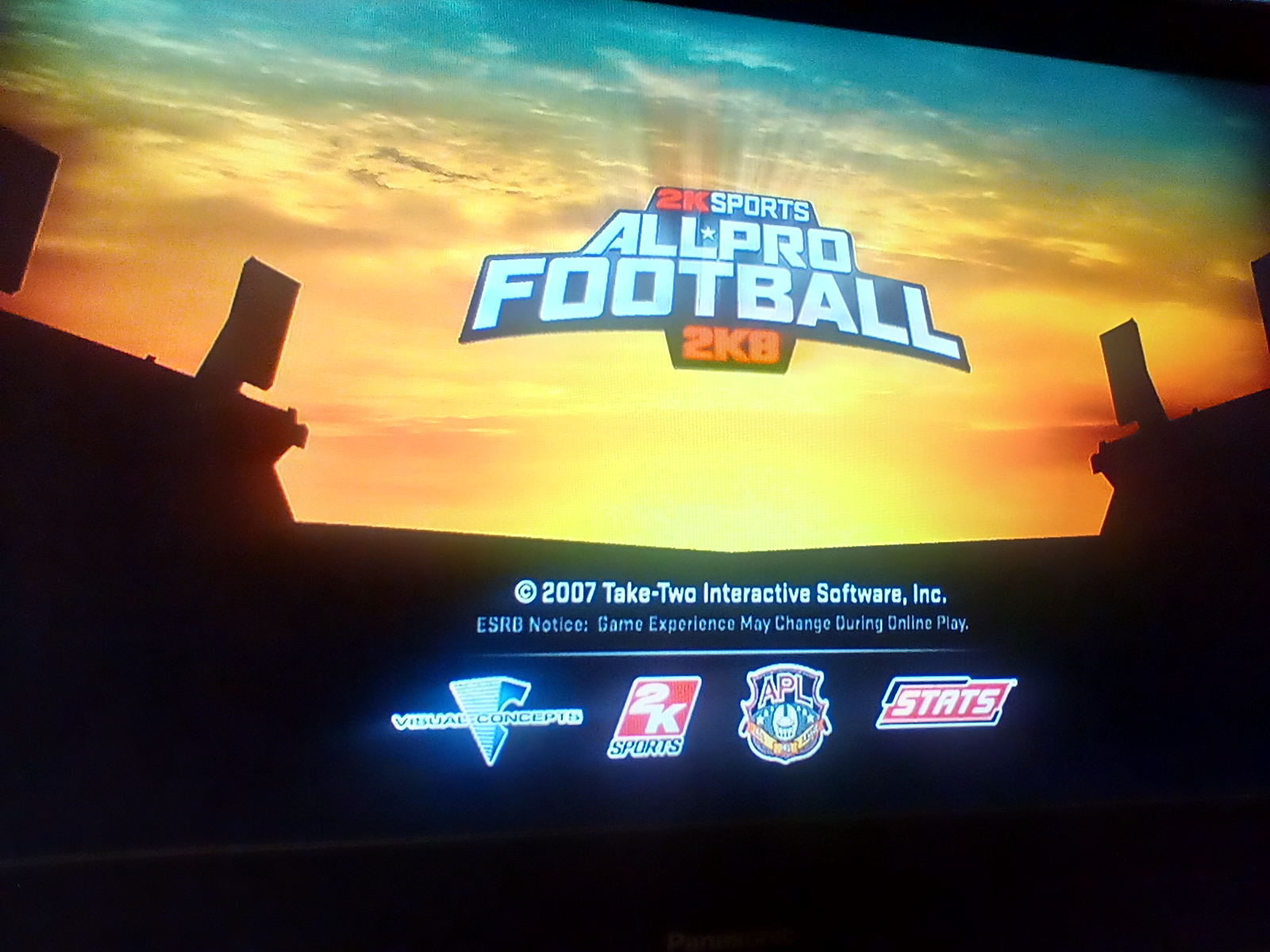 JML101582: All Pro Football 2K8 [Point Differential] (Playstation 3) -2 points on 2020-07-27 23:15:50