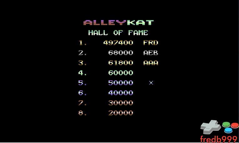 Alleykat [C64 mode] 497,400 points