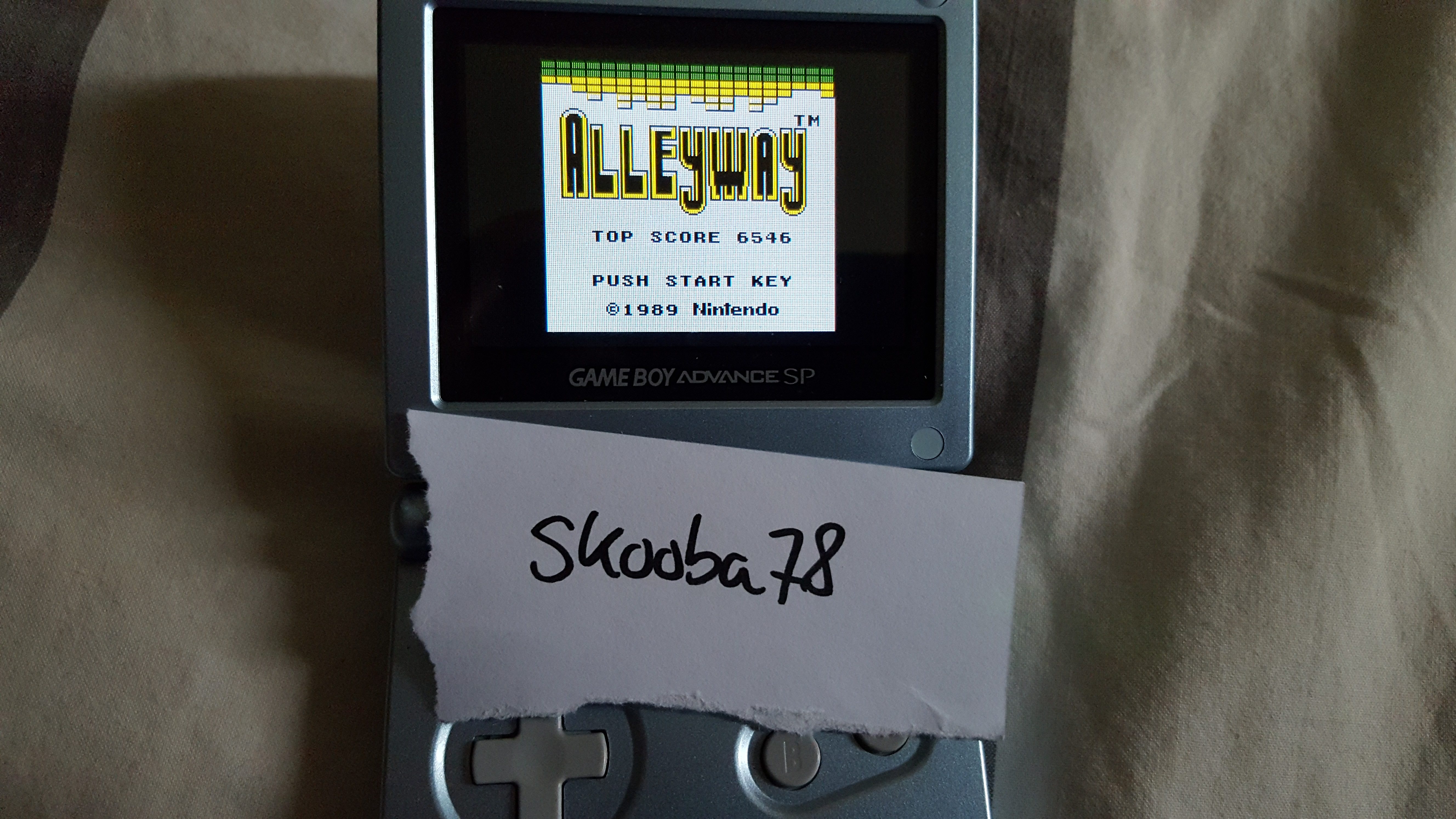 skooba78: Alleyway (Game Boy) 6,546 points on 2016-04-23 12:05:40