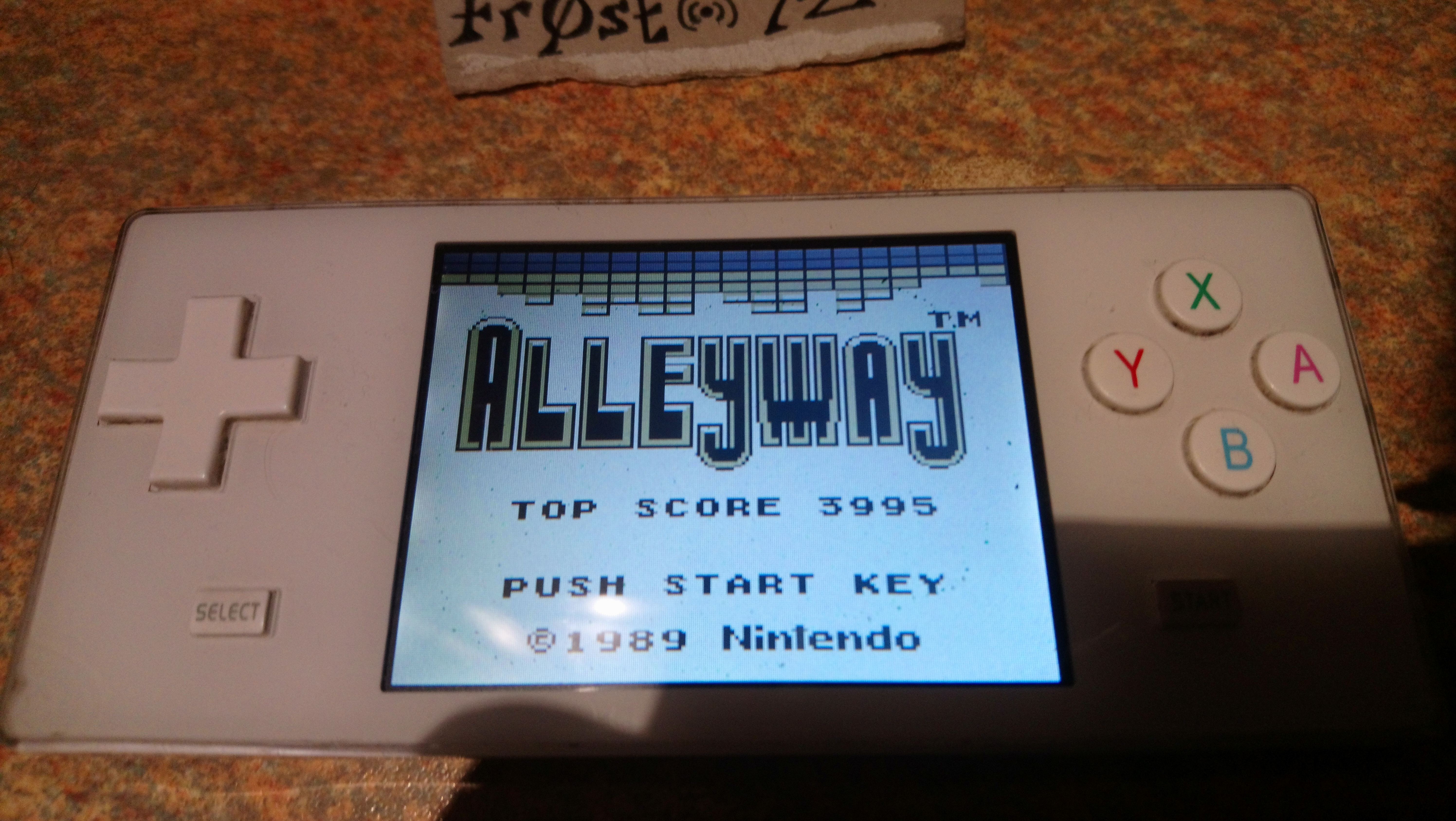 Fr0st: Alleyway (Game Boy Emulated) 3,995 points on 2019-02-05 14:41:27