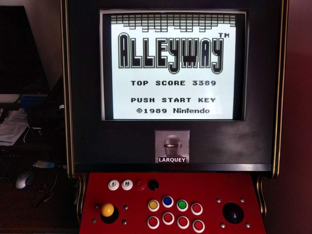 Larquey: Alleyway (Game Boy Emulated) 3,389 points on 2019-08-18 11:15:53
