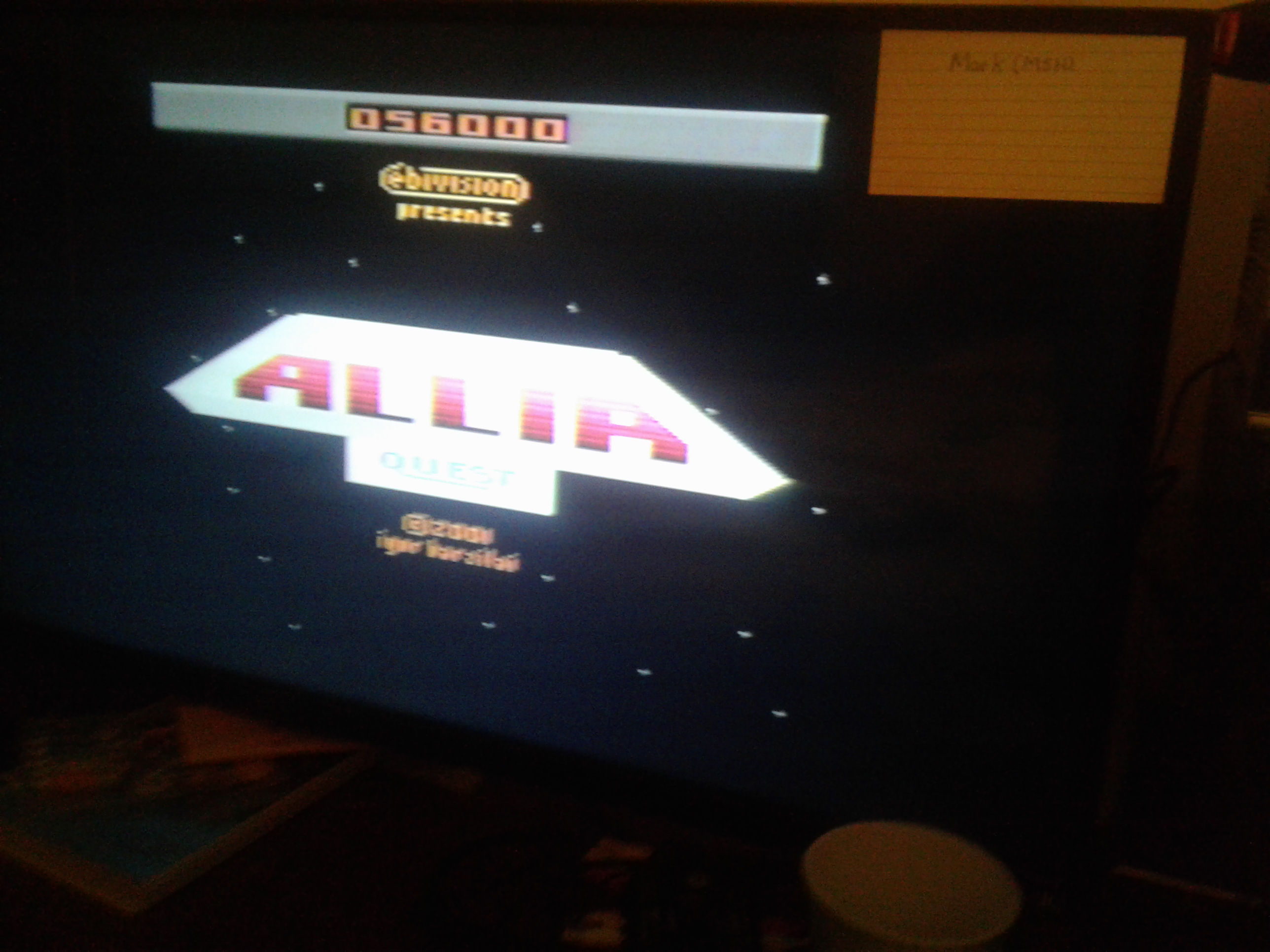 Mark: Allia Quest (Atari 2600 Expert/A) 56,000 points on 2019-01-29 00:19:23