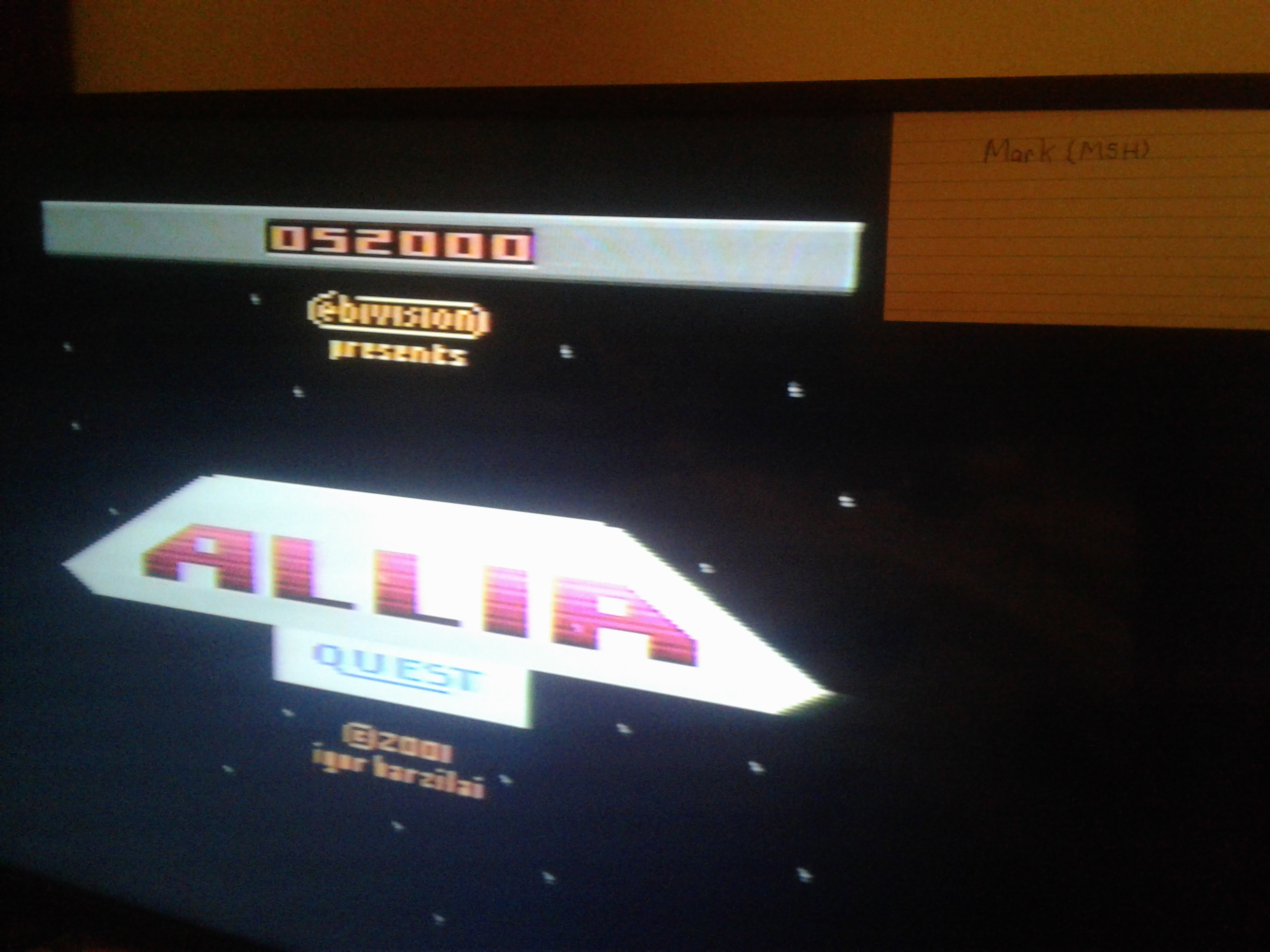 Mark: Allia Quest (Atari 2600 Novice/B) 52,000 points on 2019-01-29 22:43:28