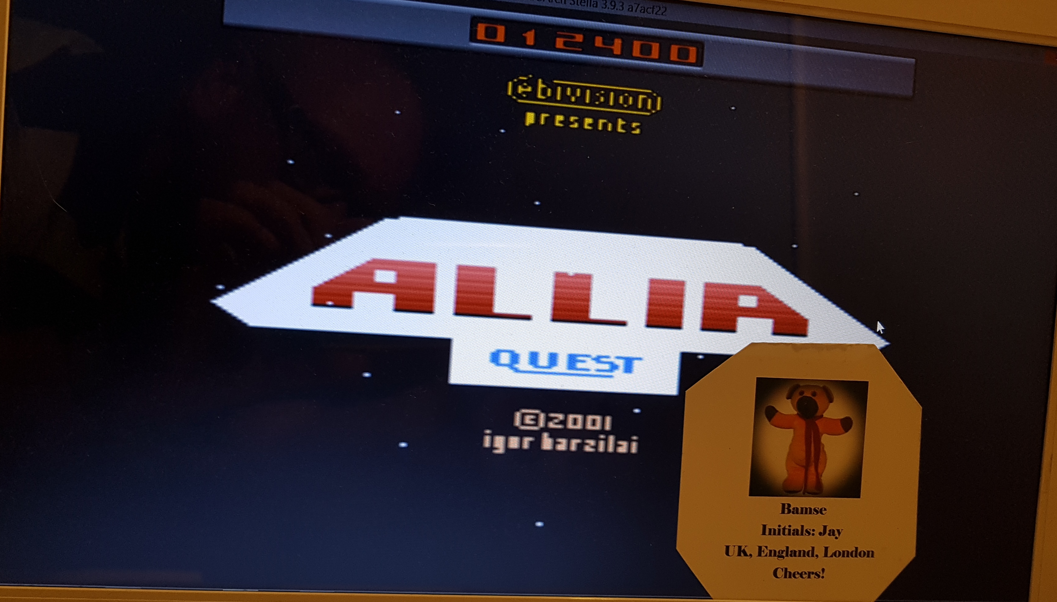 Bamse: Allia Quest (Atari 2600 Emulated Novice/B Mode) 12,400 points on 2019-07-07 16:14:54