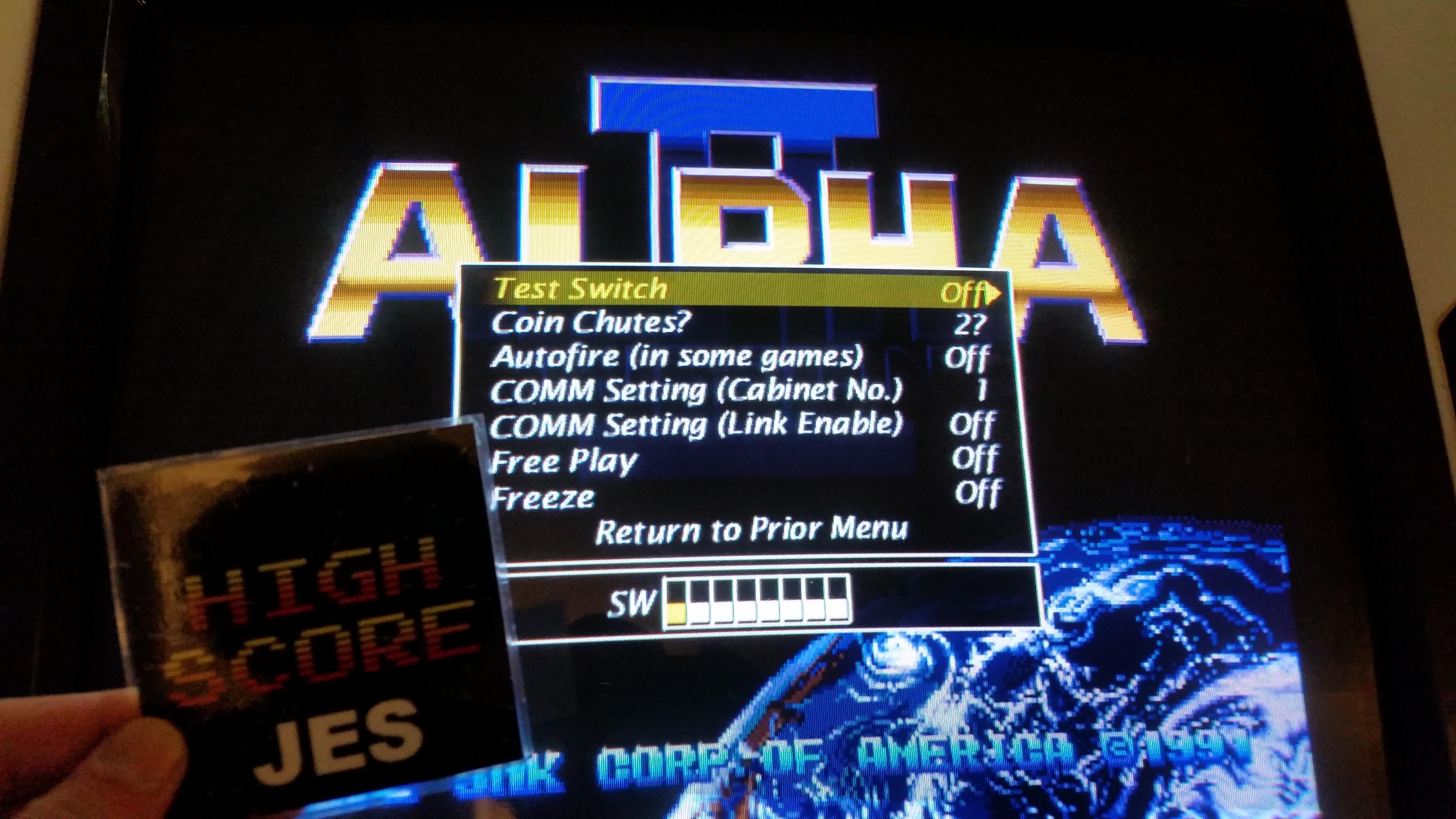 Alpha Mission II / ASO II - Last Guardian [alpham2] 180,400 points