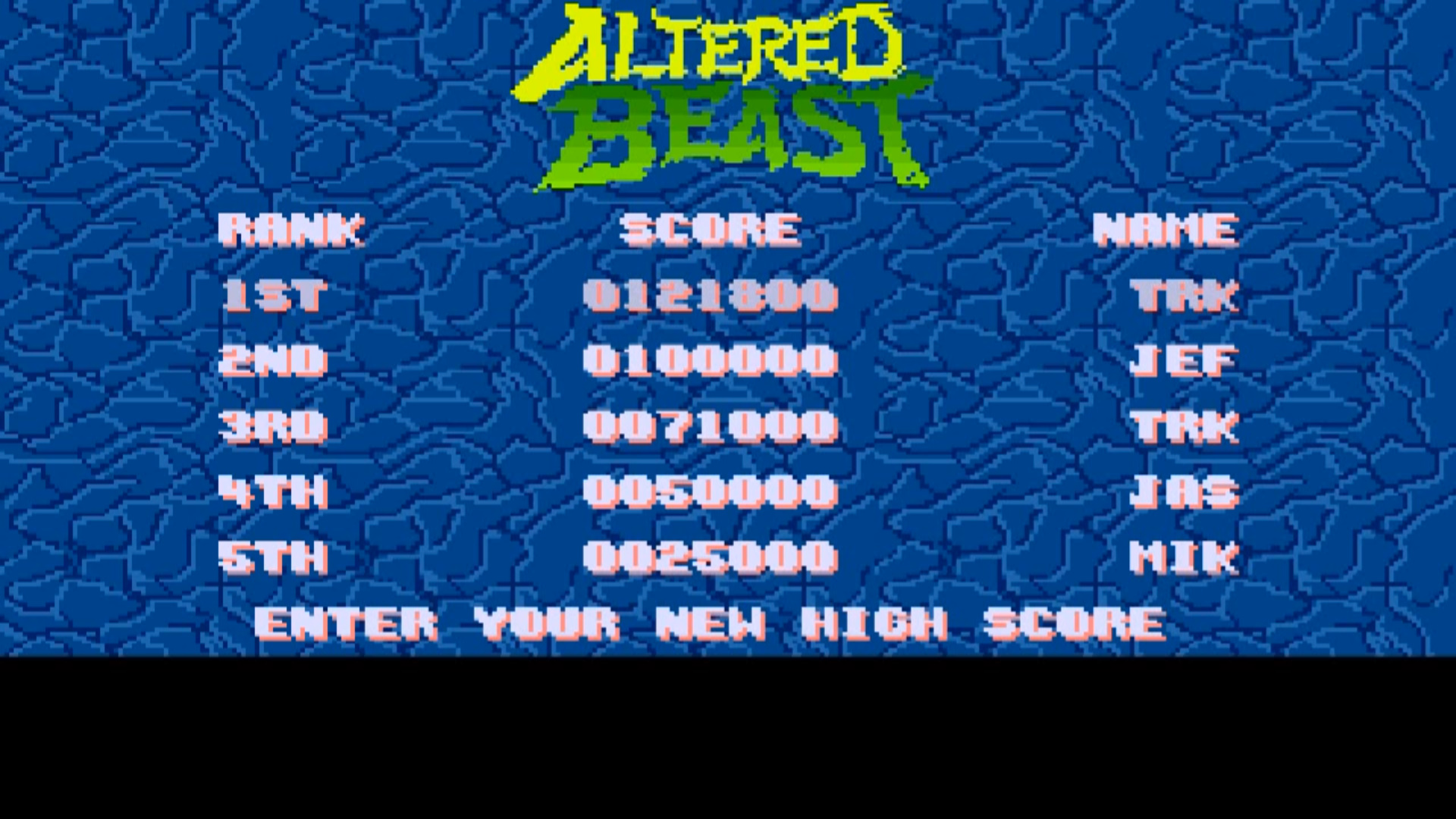 Altered Beast 121,800 points