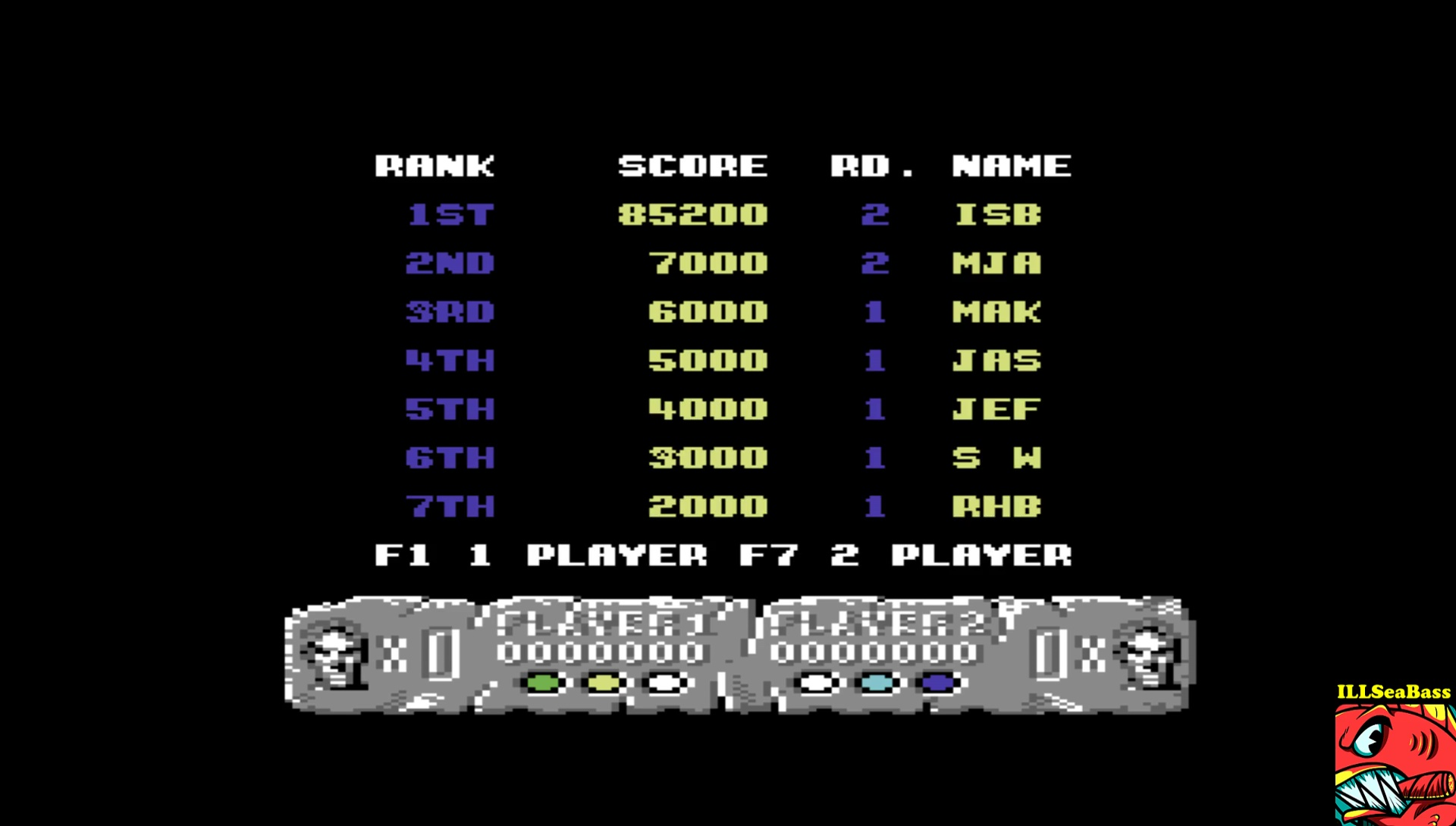 ILLSeaBass: Altered Beast (Commodore 64 Emulated) 85,200 points on 2017-05-01 22:59:05