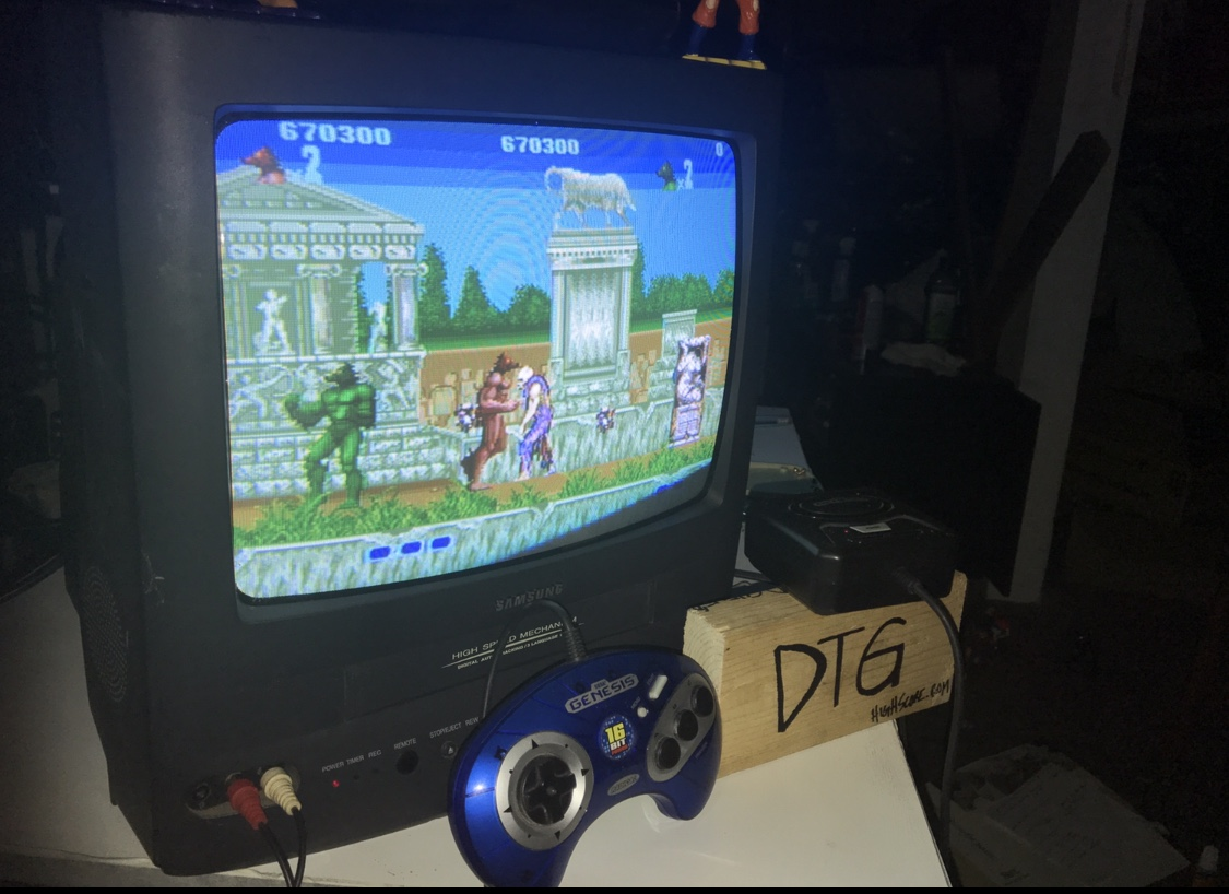 DeadThumbGamer: Altered Beast (Radica Mega Drive/Genesis 1) 670,300 points on 2018-05-25 15:40:48