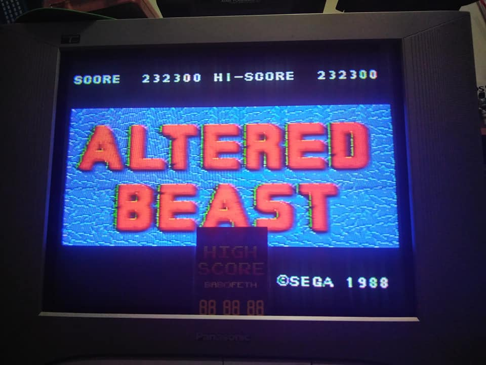 Altered Beast 232,300 points